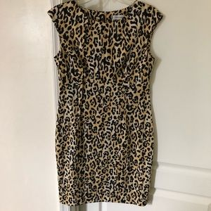 Calvin Klein sleeveless animal print dress